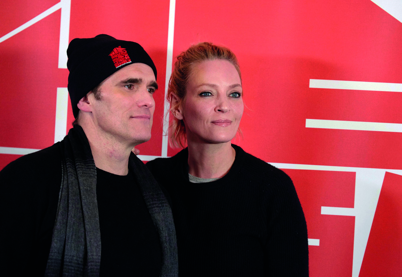 Lead role Matt Dillon og Uma Thurman, who plays one of the unfortunate women that crosses the serial killer Jack's way. At the press conference in Dalsland, Sweden in February.