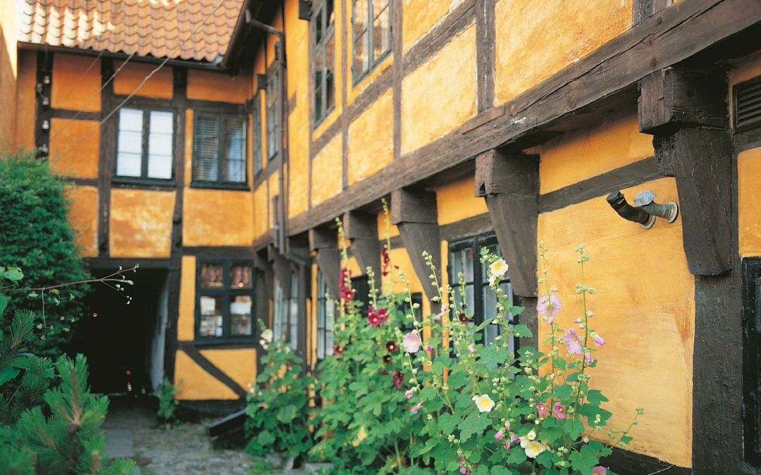 Yellow timbered house